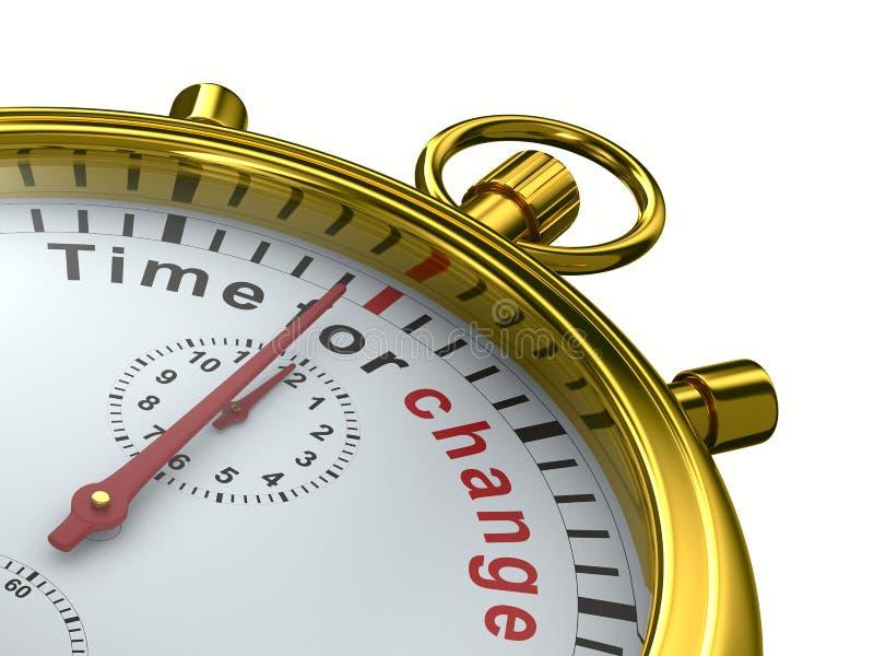 Zeit für Änderung. Stoppuhr auf weißem Hintergrund vektor abbildung