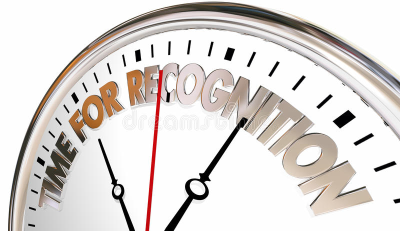 Zeit für Anerkennungs-Anerkennung danken Ihnen abzustoppen lizenzfreie abbildung
