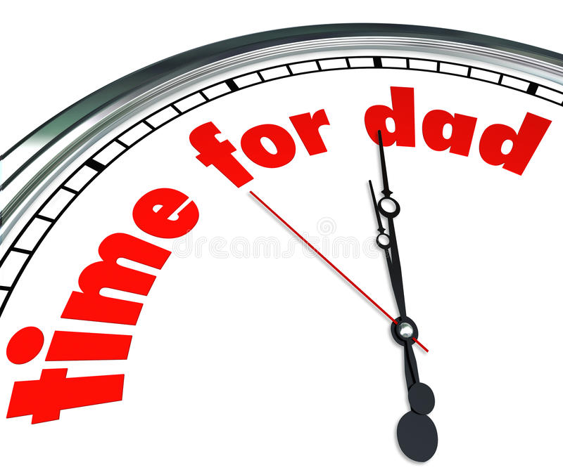 Zeit für der Vatertags-Anerkennung Vati-Uhr-Vaterschafts- lizenzfreie abbildung