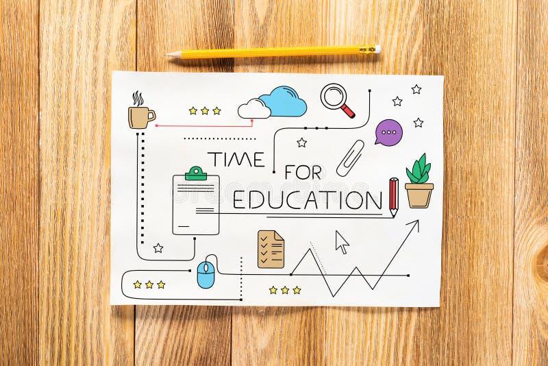 Zeit f?r die Ausbildungsbleistifthand gezeichnet lizenzfreies stockfoto