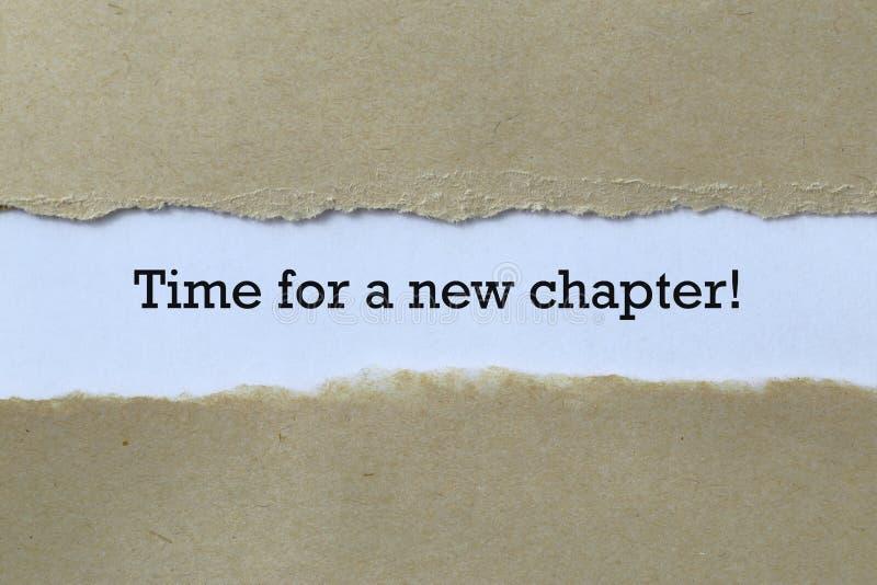Zeit für ein neues Kapitel lizenzfreie stockbilder