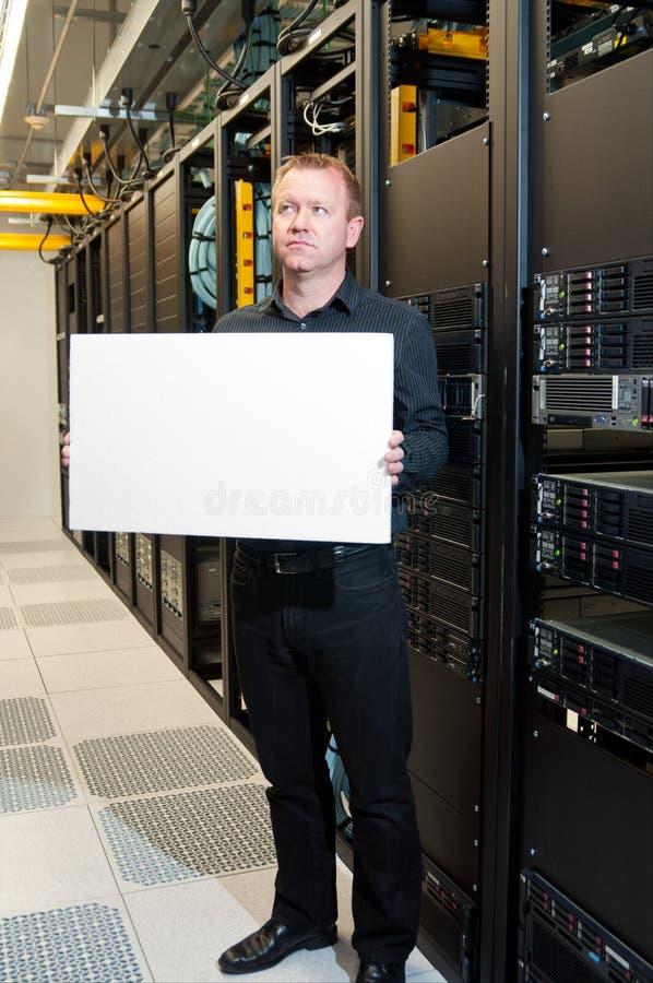 Zeit für ein Serveraufsteigen stockbild