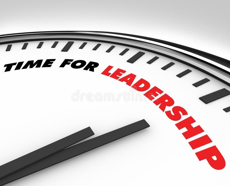 Zeit für Führung - Borduhr stock abbildung