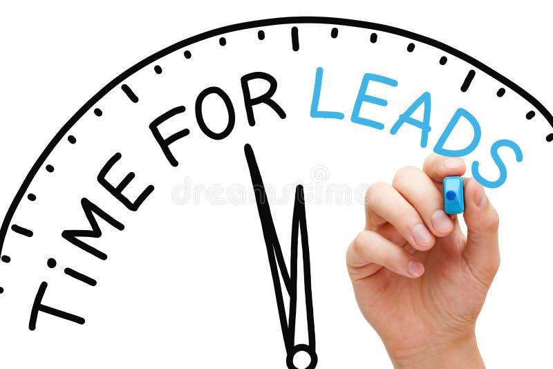 Zeit für Führungs-Konzept lizenzfreies stockbild