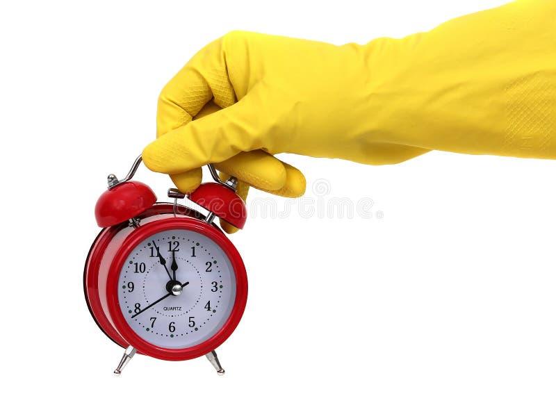 Zeit für Reinigung lizenzfreie stockbilder