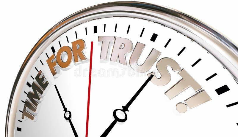 Zeit für Vertrauens-Glauben-Glaubensansehen-Uhr lizenzfreie abbildung