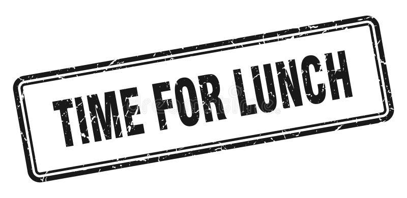 Zeit f?r Mittagessenstempel stock abbildung