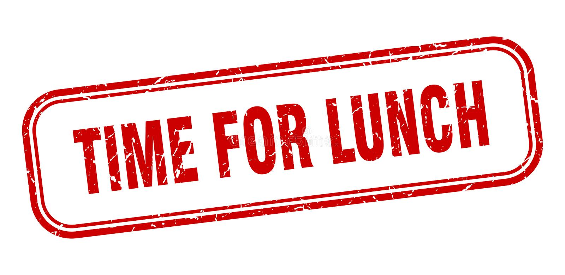 Zeit f?r Mittagessenstempel lizenzfreie abbildung