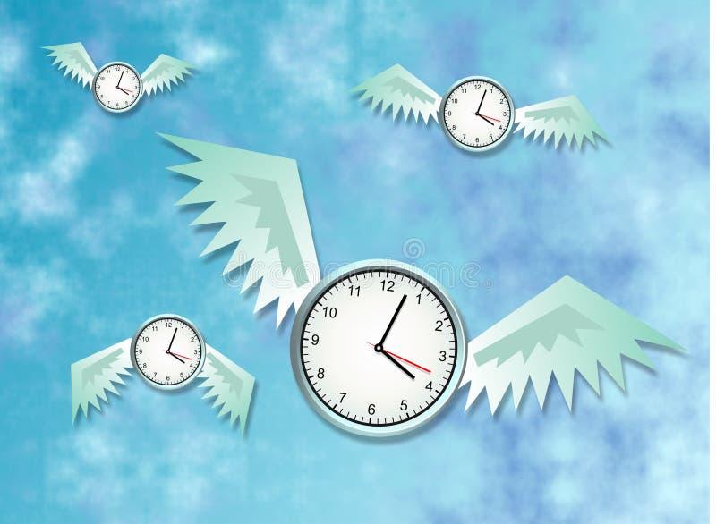 Zeit fliegt stock abbildung