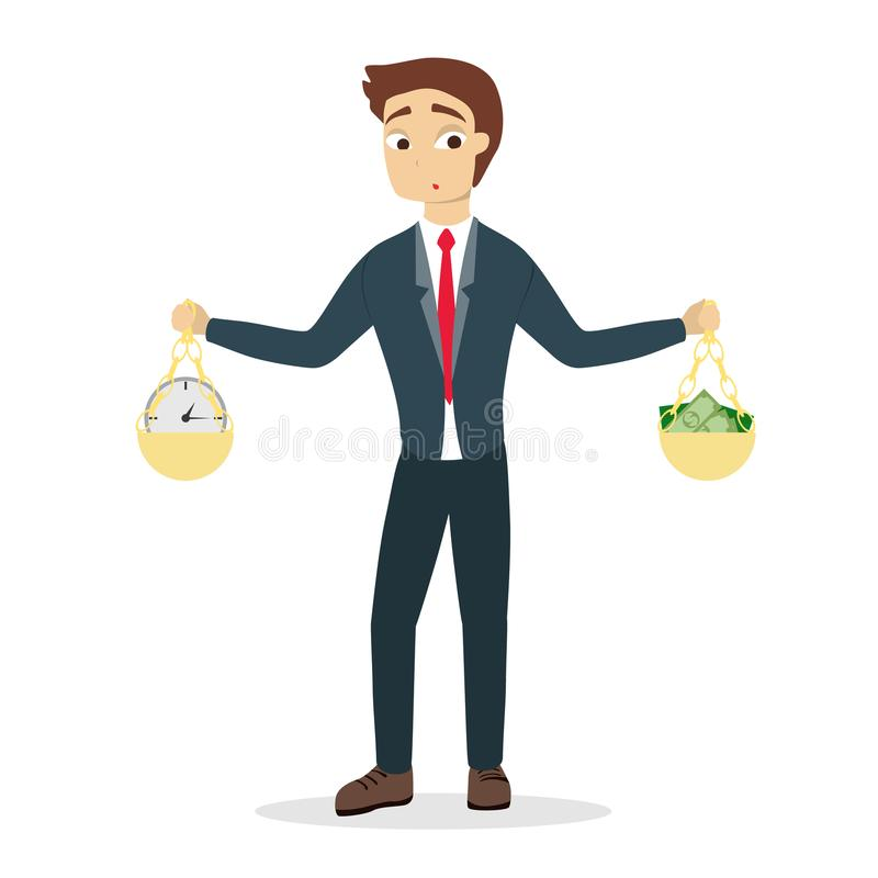 Zeit gegen Geld lizenzfreie abbildung