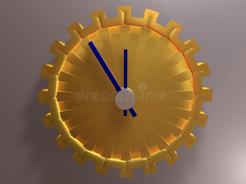 Zeit - Hintergrund - 3D stock abbildung