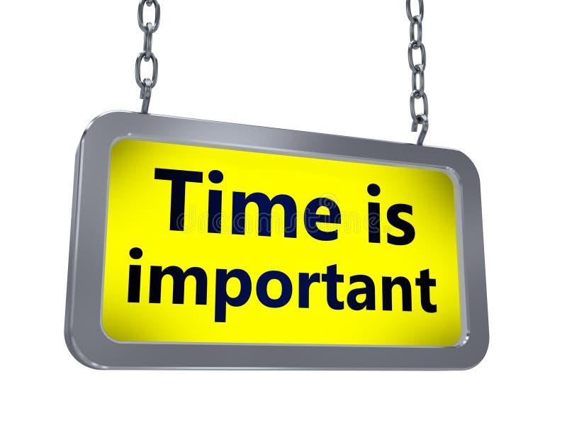 Zeit ist auf Anschlagtafel wichtig lizenzfreie abbildung