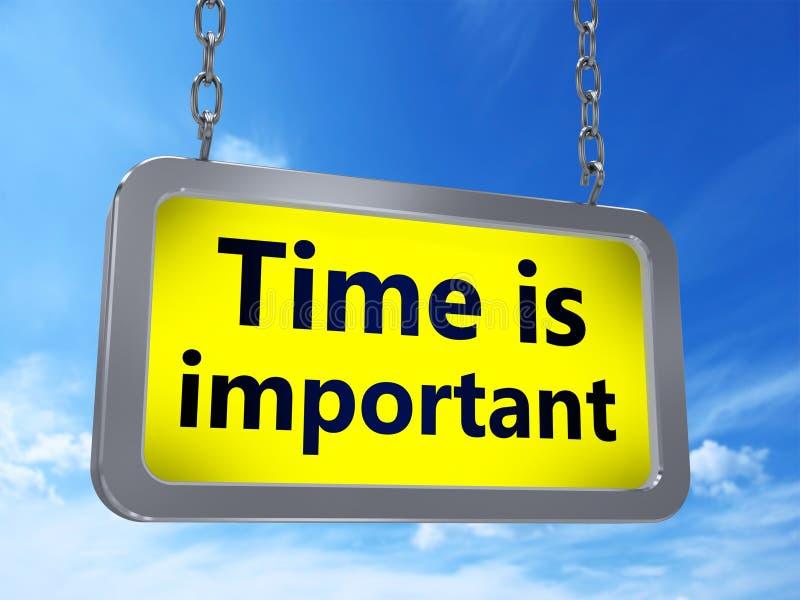 Zeit ist auf Anschlagtafel wichtig stock abbildung