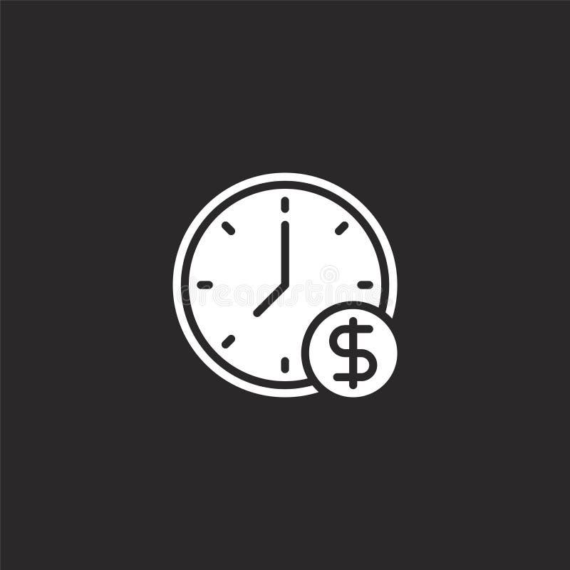 Zeit ist das Geldsymbol Vollständige Zeit ist das Geld-Icon für Website-Design und mobile, App-Entwicklung Zeit-Symbol für Geld a vektor abbildung