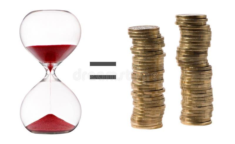 Zeit ist Geld Konzept lizenzfreies stockbild