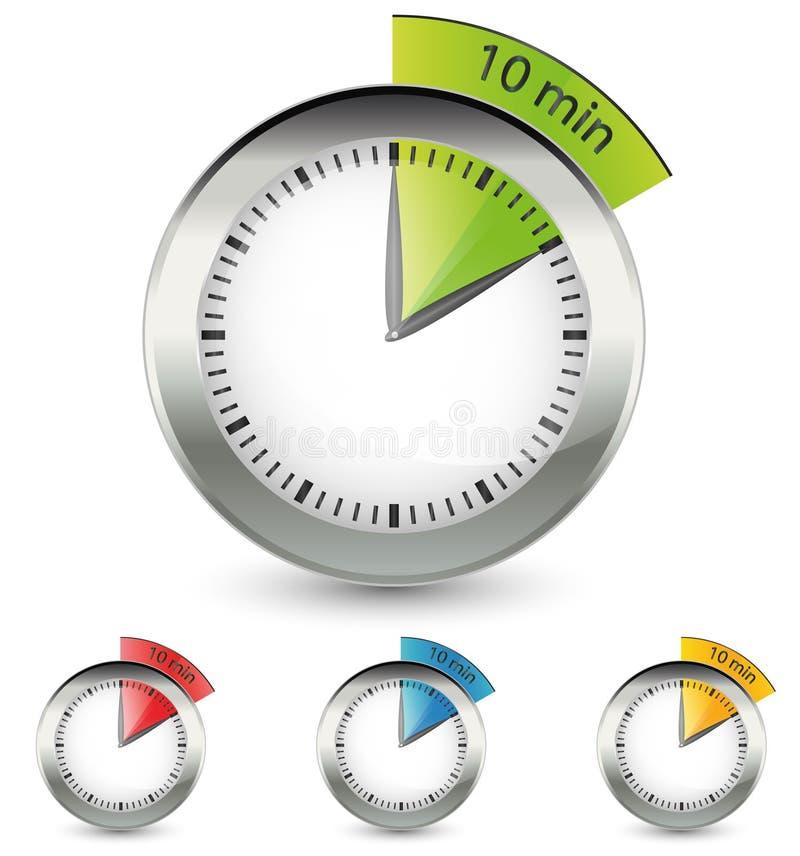 Zeit-Konzept-Ikone lizenzfreie abbildung