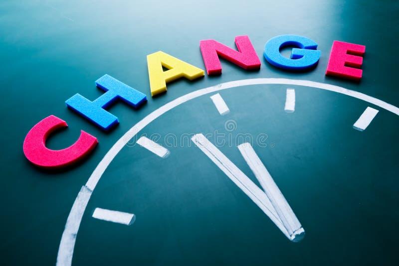 Zeit, Konzept zu ändern stockbilder
