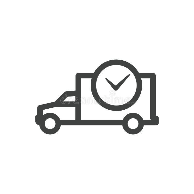 Zeit-Management-Ikone mit Frist, Eile u. pünktlichem Symbolismus vektor abbildung