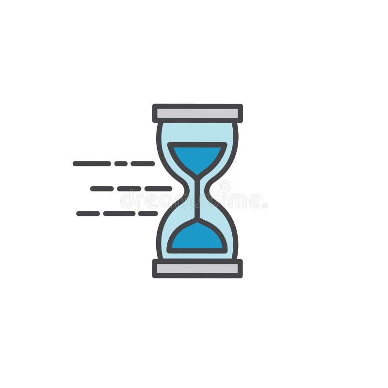 Zeit-Management-Ikone mit Frist, Eile u. pünktlichem Symbolismus lizenzfreie abbildung