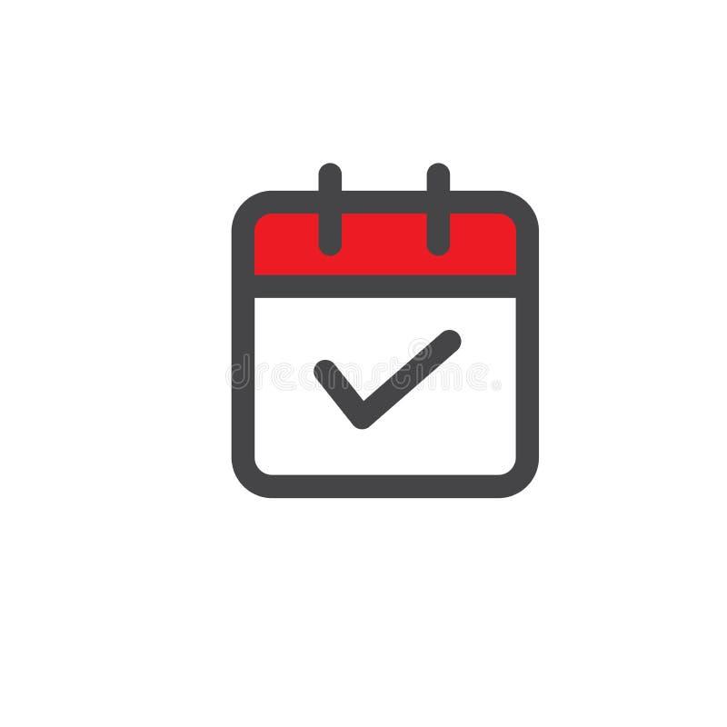 Zeit-Management-Ikone mit Frist, Eile u. p?nktlichem Symbolismus stock abbildung