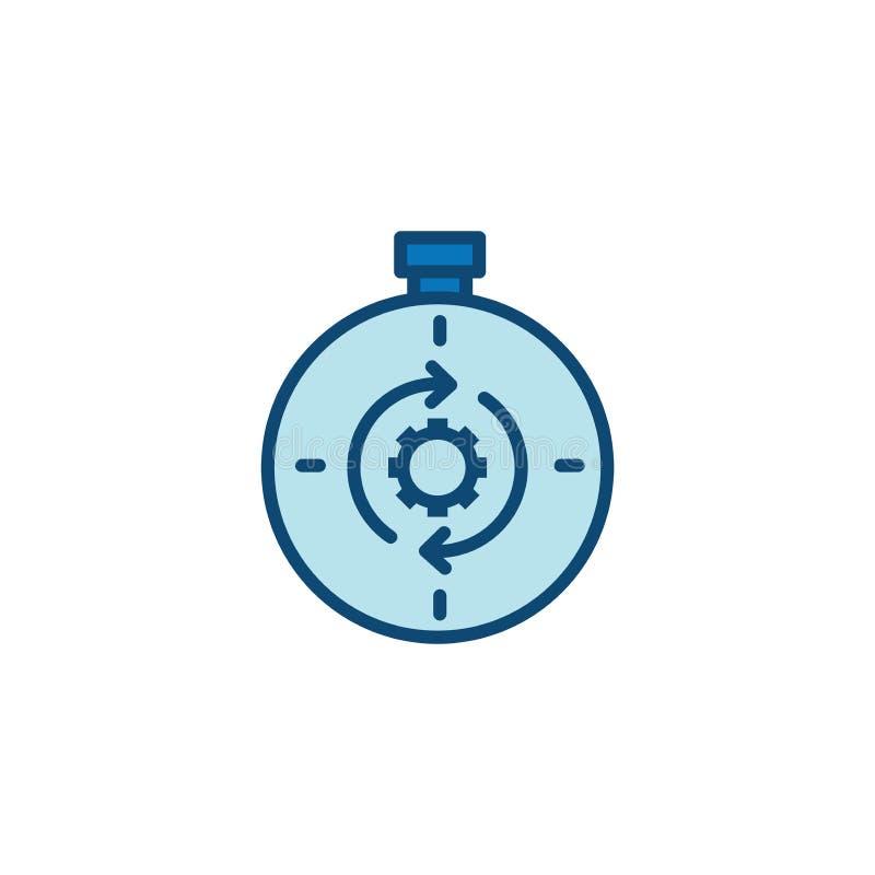 Zeit-Management-Ikone mit Frist, Eile u. p?nktlichem Symbolismus vektor abbildung