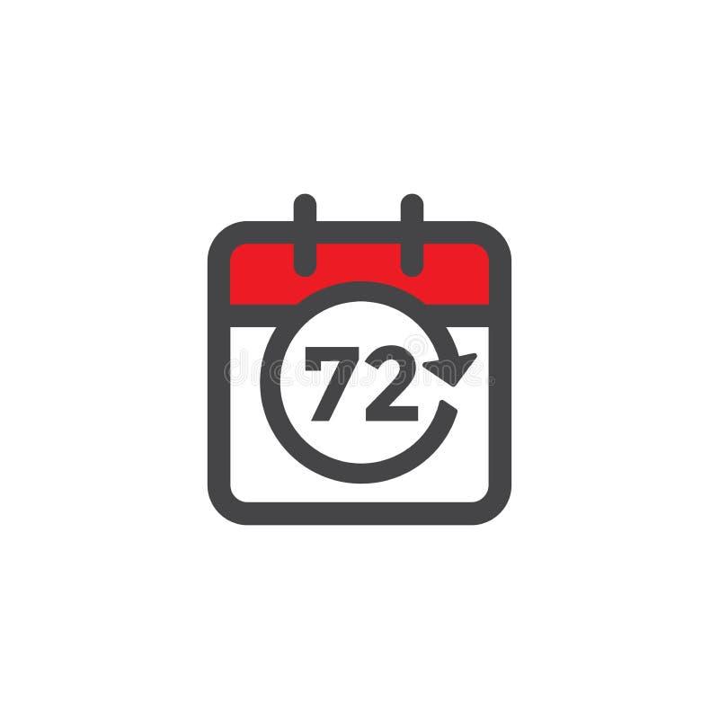 Zeit-Management-Ikone mit Frist, Eile u. p?nktlichem Symbolismus lizenzfreie abbildung