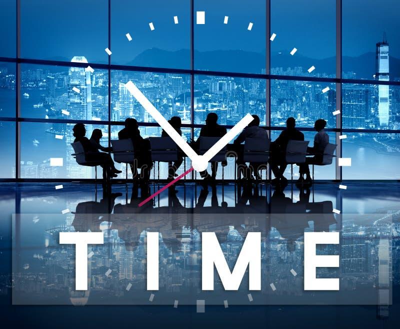 Zeit-Management-pünktliches Dauer-Zeitplan-Konzept lizenzfreie abbildung