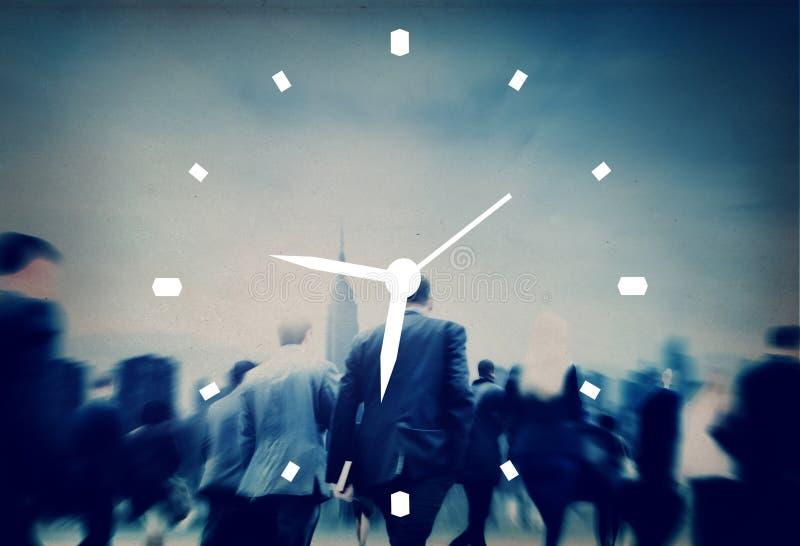 Zeit-Management-Uhr-Warnungs-Maß-Konzept lizenzfreies stockbild