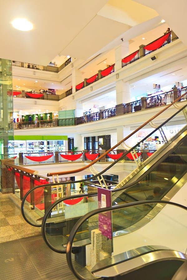 Zeit-quadratisches Einkaufszentrum stockfotografie