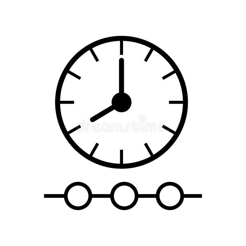 Zeit-spurige Ikone auf weißem Hintergrund stock abbildung