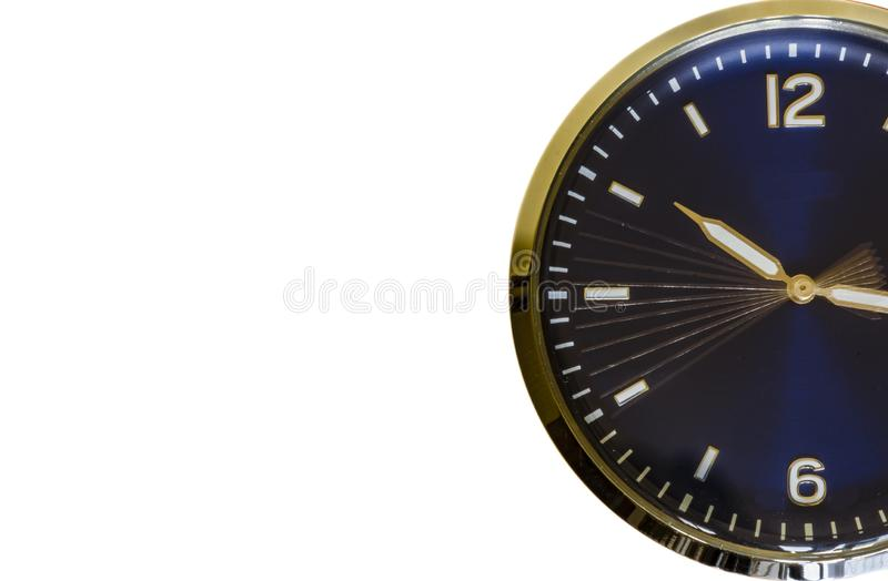 Zeit tickt - weißer Hintergrund stock abbildung