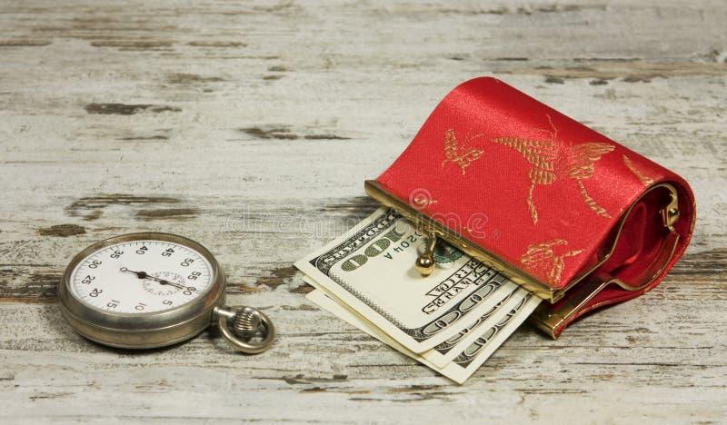 Zeit und Geld lizenzfreies stockbild