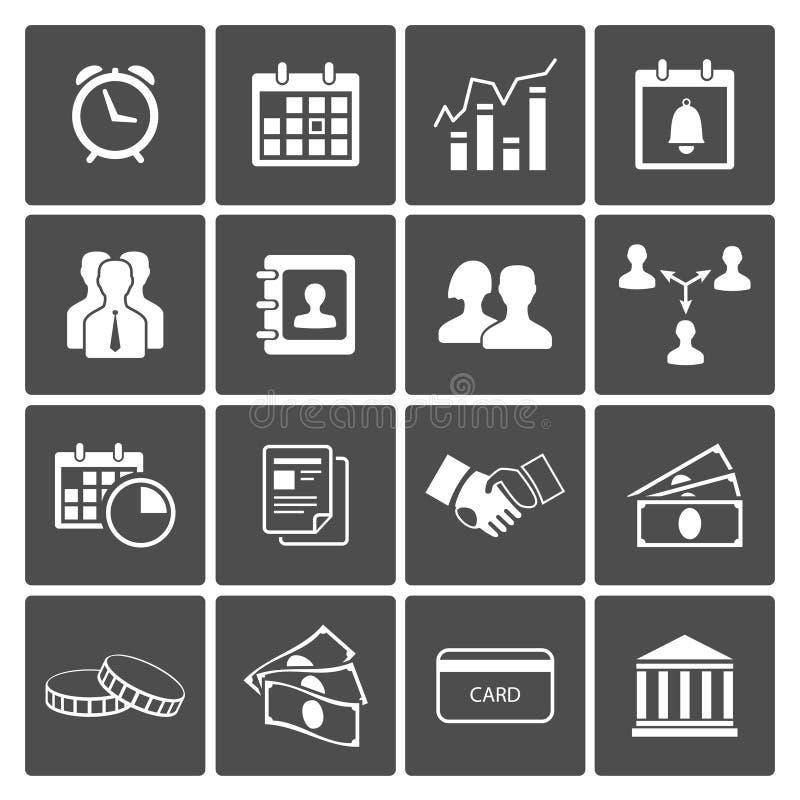 Zeit-und Geld-Ikonen eingestellt vektor abbildung