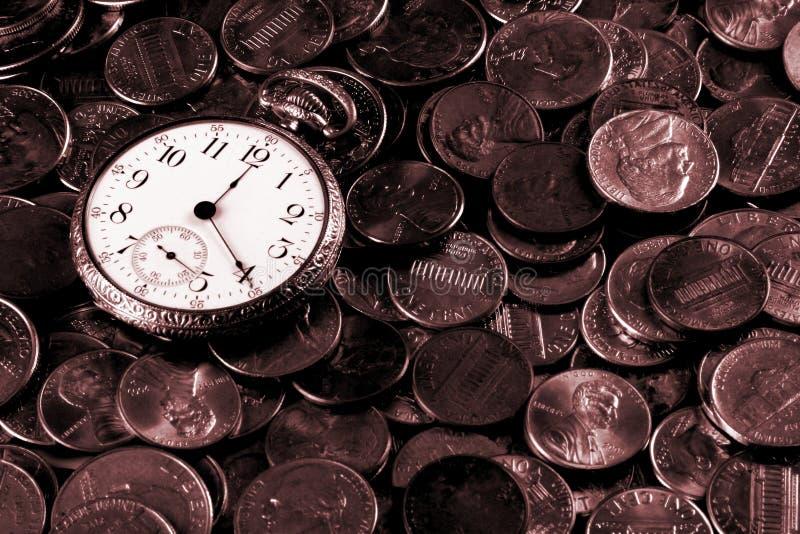 Zeit und Geld-Konzept lizenzfreie stockfotos