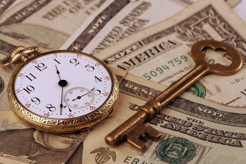 Zeit und Geld-Konzept lizenzfreie stockfotografie