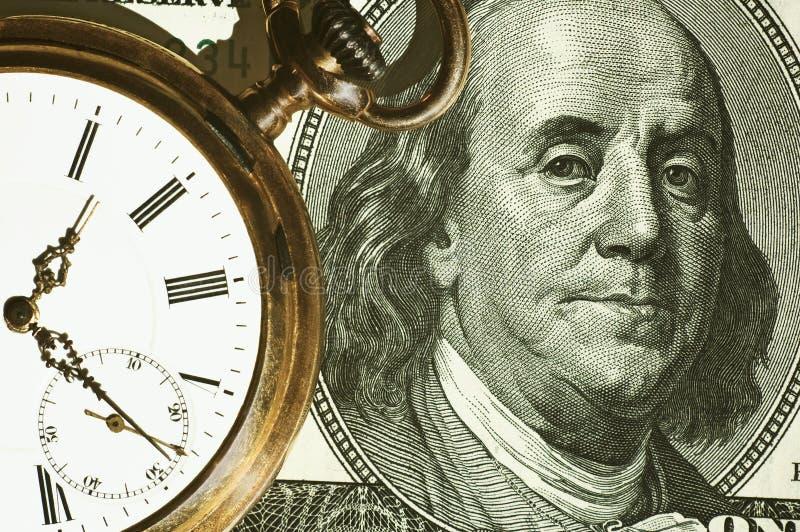 Zeit- und Geldkonzeptbild stockfoto