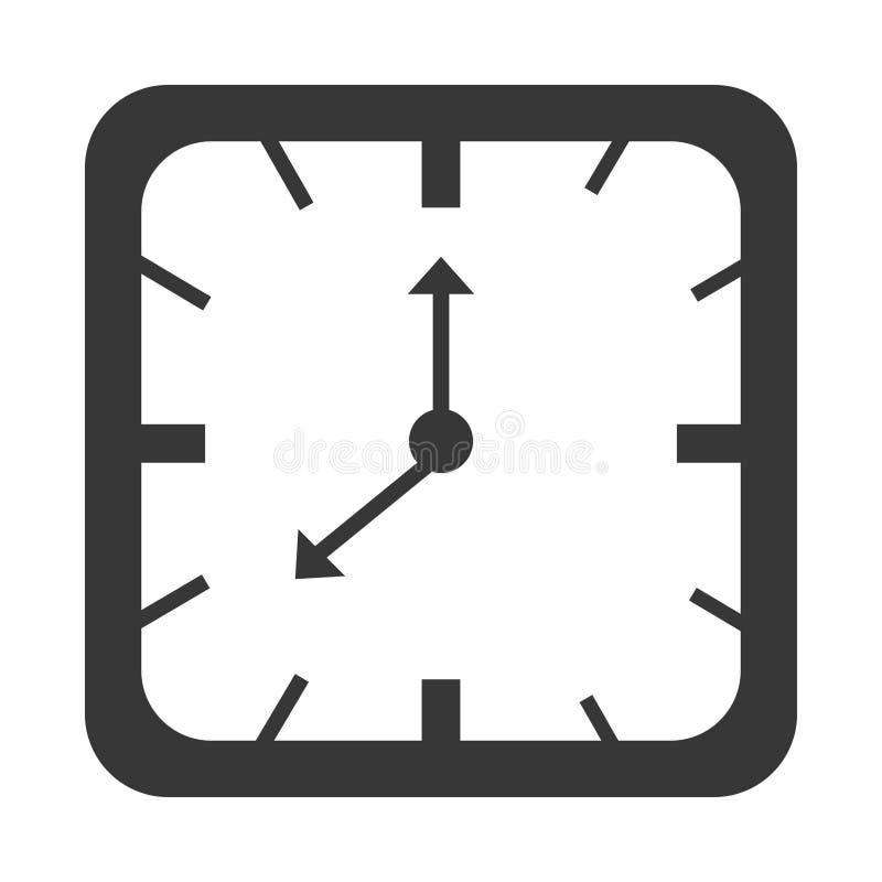 Zeit und Uhr lokalisierte Ikone lizenzfreie abbildung