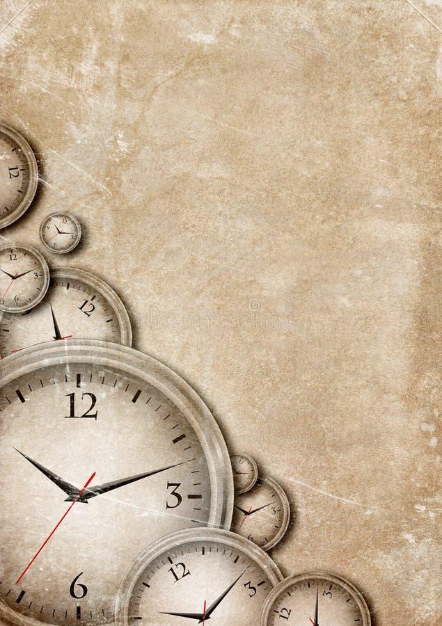 Zeit vergeht stock abbildung