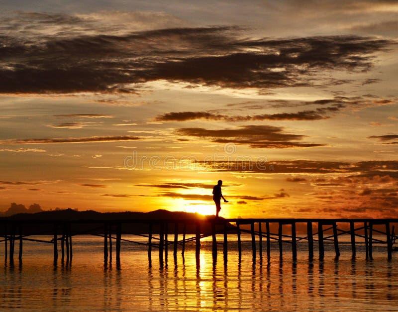 Zeit vor den Sonnenaufgängen stockfotografie