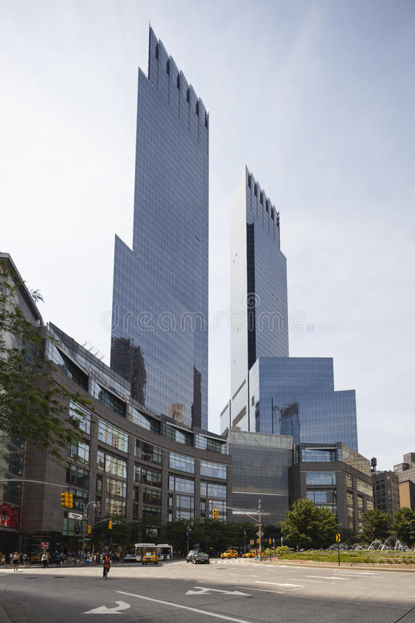 Zeit Warner Center in New York, redaktionell stockfotos
