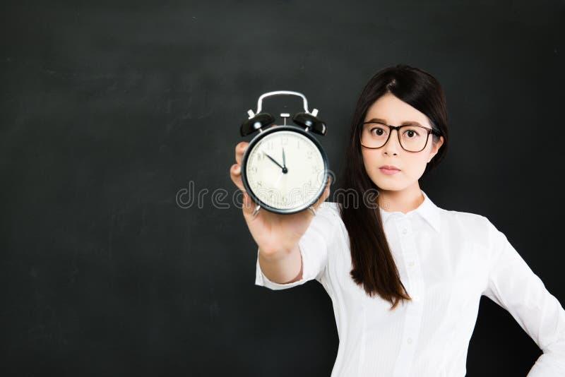 Zeit wartet auf Sie nie, Zeit läuft immer stockbild