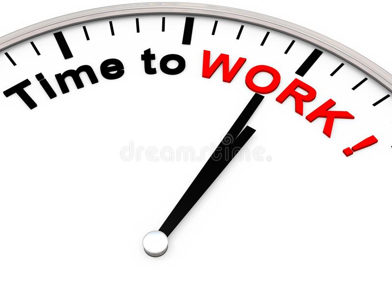 Zeit zu arbeiten lizenzfreie abbildung