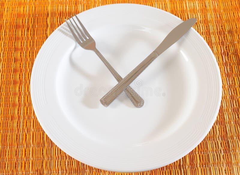 Download Zeit zu essen stockbild. Bild von zahl, hintergrund, dekor - 12202753