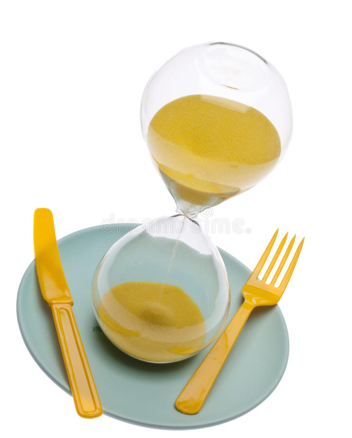 Zeit zu essen lizenzfreie stockfotografie