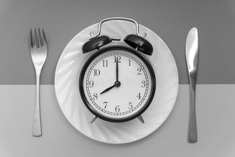 Zeit zu essen Mittagspause-, Frühstücks-und Abendessen-Konzept lizenzfreies stockfoto
