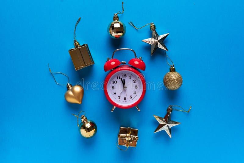 Zeit zu feiern Neues Jahr und frohe Weihnachten lizenzfreie stockfotografie