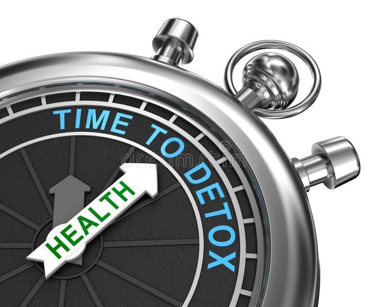 Zeit zum Detox, Konzept lizenzfreie abbildung
