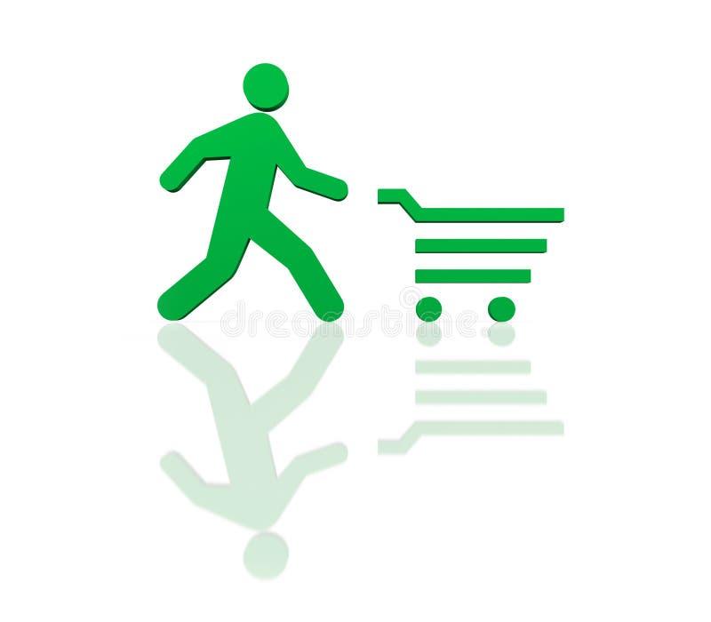 Zeit zum Einkaufen lizenzfreie abbildung