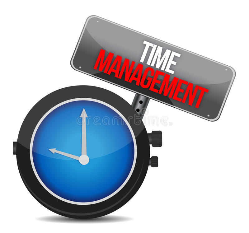 Zeit zum Management. lizenzfreie abbildung