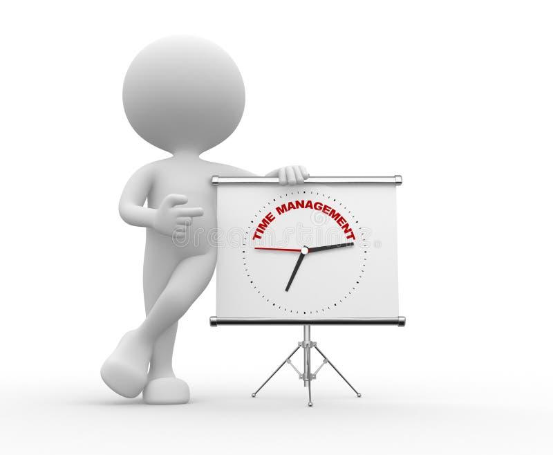 Zeit zum Management lizenzfreie abbildung